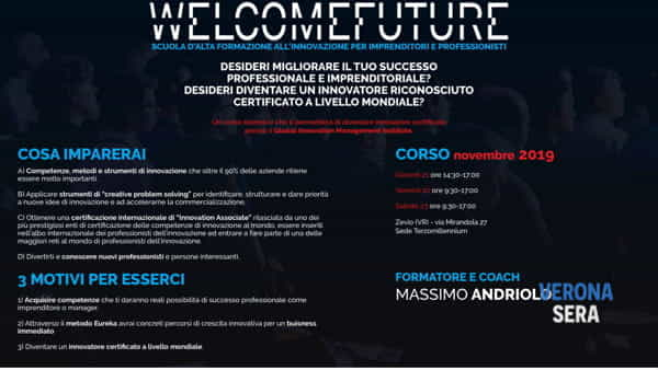 Welcome future: innovazione strategica per imprenditori e professionisti