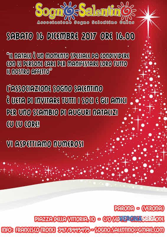 Scambio Auguri Di Natale.Auguri Di Natale Con Sogno Salentino Sabato 16 Dicembre Eventi A Verona