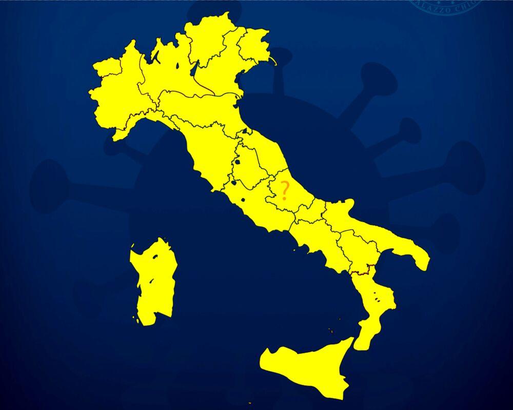 italia colori zona gialla rafforzata