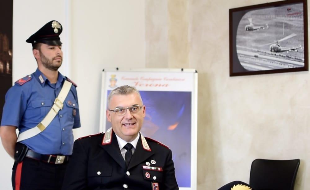 Luogotenente Damiano Castellini  comandante sezione radiomobile carabinieri di Verona