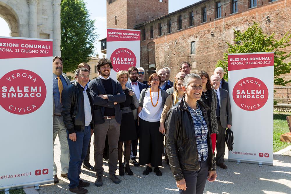 Alcuni candidati della lista Verona Civica Salemi Sindaco